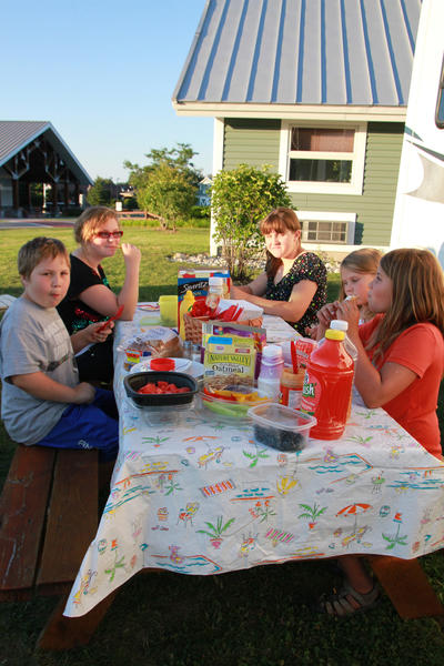 Children that particpate in the Emmet-Charlevoix County Fair eat healthy during fairweek.