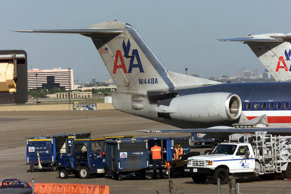 The Teamsters had wanted to recruit American Airlines mechanics. Above, planes in 2003.