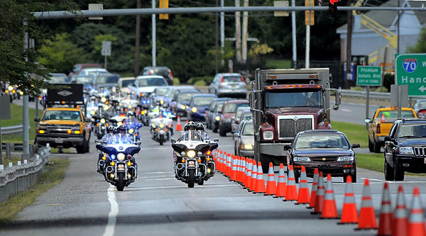 America's 9/11 Foundation Ride departs Premium Outlets parking lot Friday enroute to Washington, D.C.