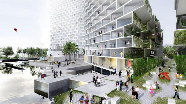 Fort Lauderdale commissioners on Tuesday will vote on the proposed 960-unit Marina Lofts apartment complex planned downtown on the south side of the New River.