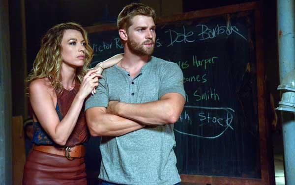 "Natalie Zea and Mike Vogel in ""Under the Dome"" on CBS"