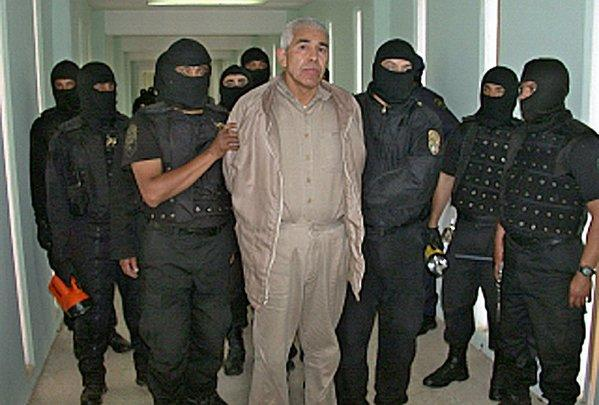 "Mexican drug cartel boss Rafael Caro Quintero, seen here in 2005, was released on a ""technicality"" this month after 28 years in prison."