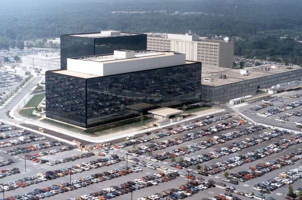 An undated aerial handout photo shows the National Security Agency (NSA) headquarters building in Fort Meade, Maryland. The U.S. National Security Agency has broken privacy rules or overstepped its legal authority thousands of times each year since 2008, the Washington Post reported on Thursday, citing an internal audit and other top-secret documents.