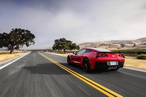 Among the changes made in the 2014 Corvette Stingray are the taillights. This is the first model without two sets of round taillights since 1961. They're trapezoids now, with black vents on the outside of each pair resembling streaks of mascara.