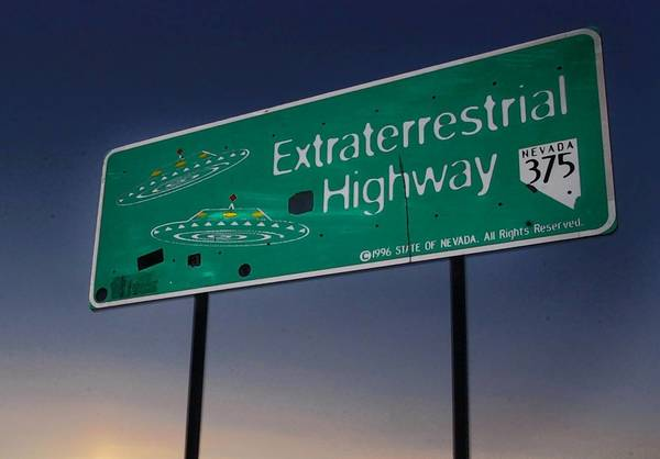 Extraterrestrial Highway near Rachel, Nev. In newly declassified documents, the CIA acknowledges the existence of Area 51, which has captivated listeners on the far ends of the radio dial.