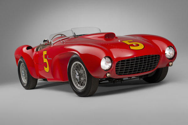 This 1953 Ferrari 375 MM Spider, one of only 12 known to exist, sold at auction for $9.08 million, including commission.
