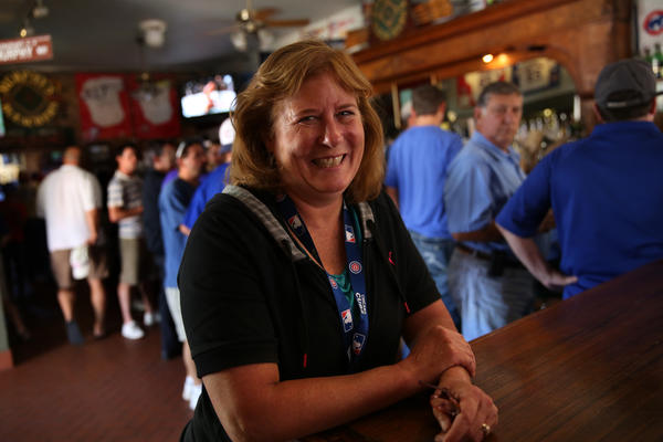 Beth Murphy, owner of Murphy's Bleachers at Waveland and Sheffield Avenues in Chicago, is head of the rooftop owners association.