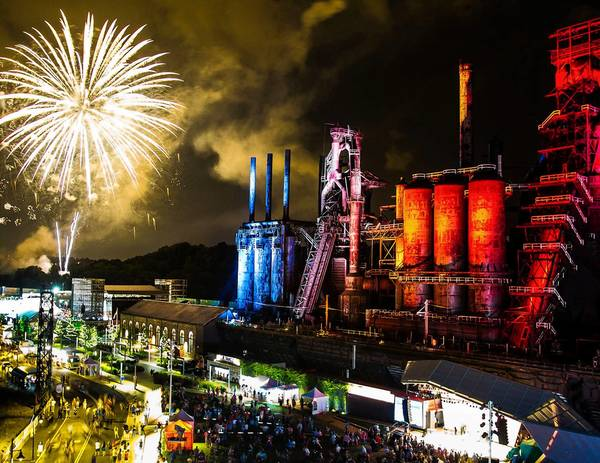 ArtsQuest has released an official Musikfest 30th Anniversary Print and Postcard featuring an image of fireworks exploding over SteelStacks on closing night 2013. It was taken by Musikfest volunteer photographer Ted Colegrove from the roof of the ArtsQuest Center.