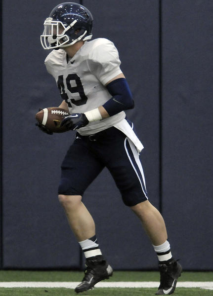 UConn tight end Sean McQuillan, a sophomore from Glastonbury who attended Avon Old Farms, sustained a concussion in practice Saturday.