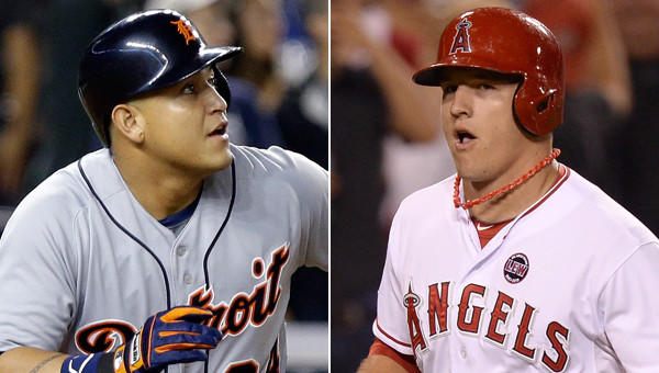 Will Detroit Tigers third baseman Miguel Cabrera win the AL MVP award once again or will Angels outfielder Mike Trout claim the honor?