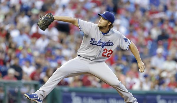 Dodgers starter Clayton Kershaw earned his 12th win of the season in a 5-0 victory over the Philadelphia Phillies on Saturday.