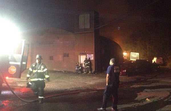 Several fire companies were called to a fire in a building on Philadelphia Road in Joppa early Sunday morning.