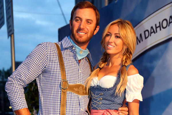 Dustin Johnson and Paulina Gretzky attend the BMW International Open 25th Anniversary Party in June in Munich, Germany.