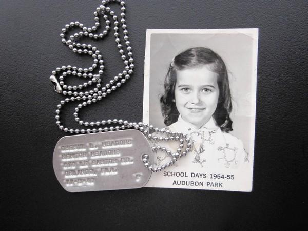 During the Cold War in the early 1950s, some school children were issued dog tags in case of nuclear attack by the Soviet Union. Sherry Meadows Lewis of Orlando still has the set from her days as a student at Audubon Park Elementary School in Orange County.