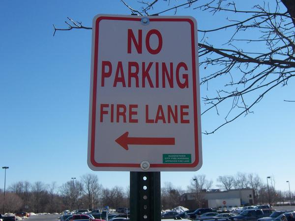 Hagerstown City Fire Marshal Doug DeHaven said that in the city, roadways at shopping centers are not required to be marked as fire lanes if the unobstructed width of the roadway is at least 20 feet, and the unobstructed vertical clearance of the roadway is at least 13 feet, 6 inches.