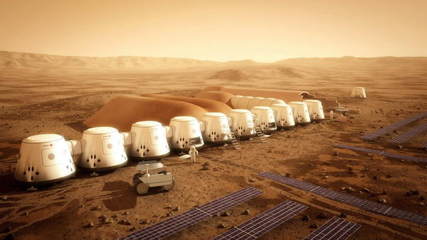 This is an illustration prepared for Mars One.