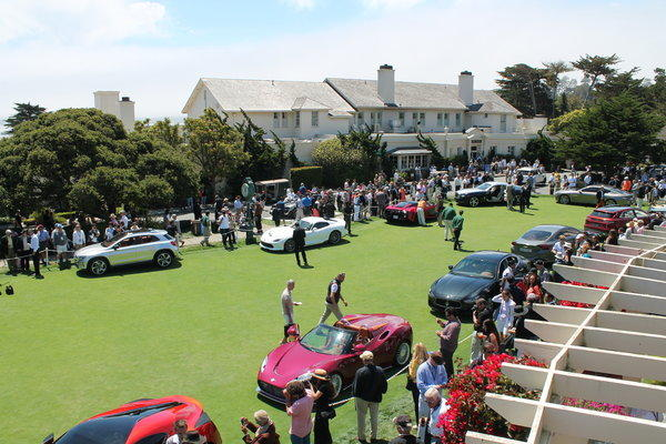 The Concept Lawn at the 2013 Pebble Beach Concours d'Elegance on Sunday afternoon.