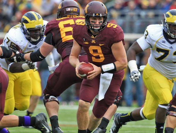 Minnesota quarterback Philip Nelson during a game against Michigan.