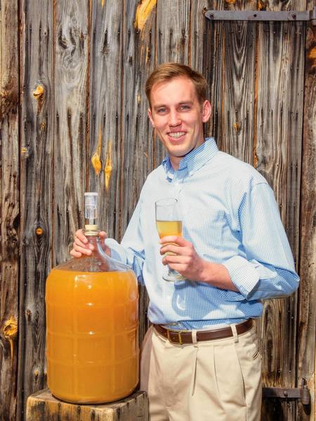 Will Correll, 23, of James City founded Buskey Barrel Cider Co. and plans to make cider near Williamsburg for distribution across the region with potential future expansion.