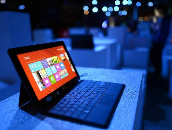 Microsoft is among the tech industry's biggest players struggling to navigate the changes in the way businesses and consumers are buying and using technology. In its disappointing summer earnings report Microsoft took an ugly $900-million write-down because of poor sales of its Surface tablet, above.