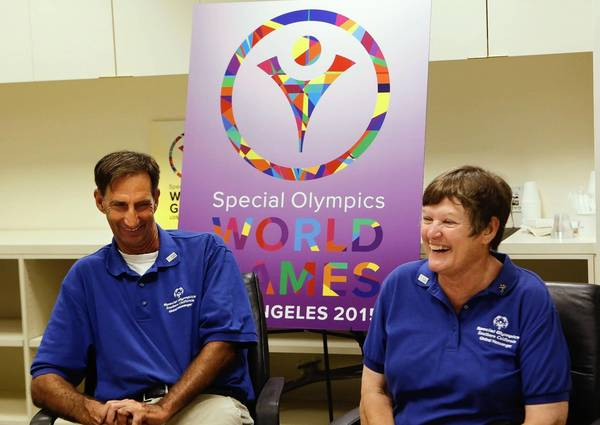 Special Olympics athletes Paul Hoffman and Susan Johnson talk about the World Summer Games scheduled for Los Angeles in 2015. If the games go well, it could help the city's bid for the 2024 Summer Olympics. Hoffman's favorite sport is basketball, whiile Johnson's is golf.