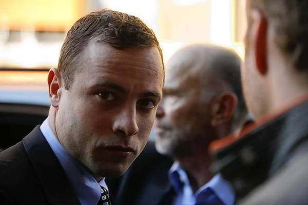 Oscar Pistorius arrives at the Pretoria Magistrates court for a brief appearance.