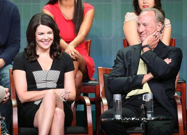 "Lauren Graham, with ""Parenthood"" co-star Craig T. Nelson, takes part in a panel discussion in Beverly Hills during the 2013 Summer Television Critics Assn. tour."