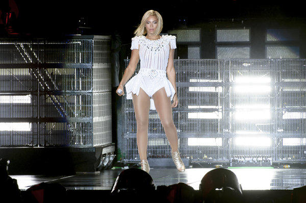 Beyonce performs at the V Festival in Chelmsford, England.