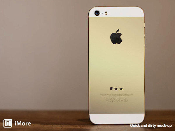 The Apple blog iMore created this mockup of what a gold iPhone might look like.
