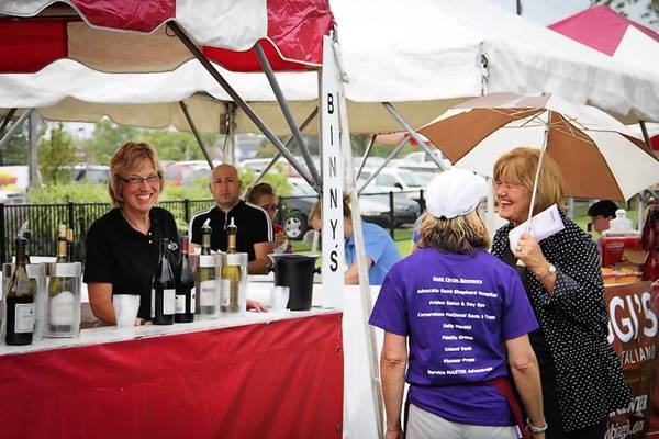The Binny's beverage tent is shown at the 2012 Taste of the Towns in Lake Zurich.