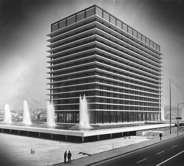 1960s file photo of the DWP headquarters building.