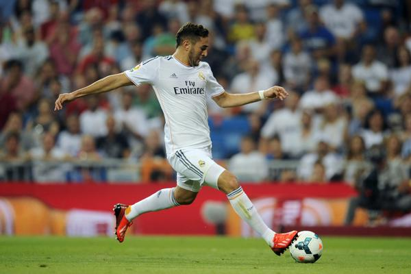 Real Madrid's French forward Karim Benzema controls the ball during the Spanish league football match Real Madrid CF vs Real Betis at the Santiago Bernabeu stadium in Madrid on August 18, 2013.