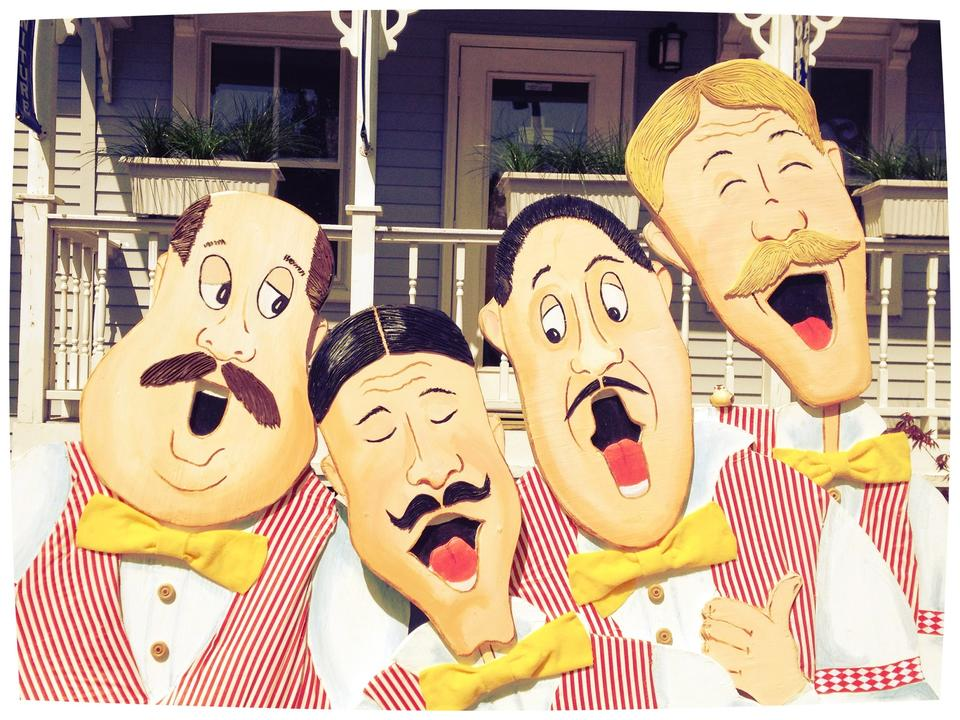 "The Barbershop Quartet"" -""The Barbershop Quartet"" bench by"