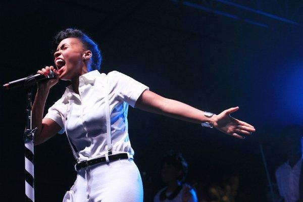 "Janelle Monáe, at the 2013 edition of Coachella, slows things down on her latest single, ""Primetime."""