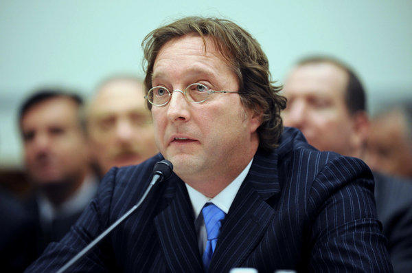 Philip Falcone of Harbinger Capital Partners testifies on Capitol Hill in Washington in 2008.