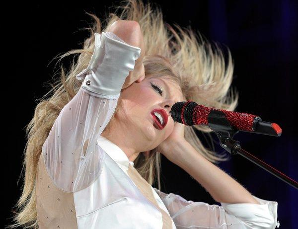 Taylor Swift, at a July performance in Philadelphia, will tie a house record for most sold-out shows by the end of her four-night sting at Staples Center in Los Angeles on Aug. 24.