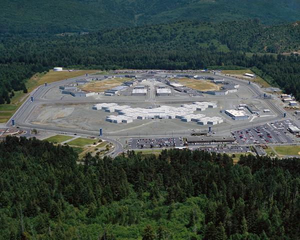 Pelican Bay State Prison in Crescent City, one of several where inmates have been on a hunger strike that began July 8.