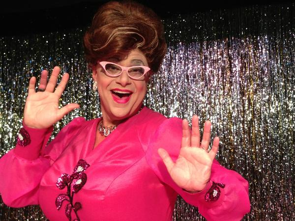 "Michael Colavolpe, pictured as Edna in ""Hairspray,"" won 2 Dolly Awards from the Bay Street Players on Sunday."