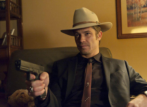 "Timothy Olyphant, here as Deputy U.S. Marshal Raylan Givens in FX's ""Justified,"" will guest-star on ""The Mindy Project"" as a skateboarder."