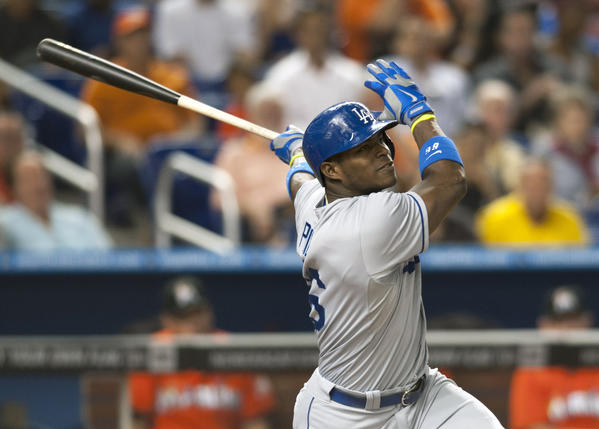 Outfielder Yasiel Puig has led the Dodgers' resurgence.