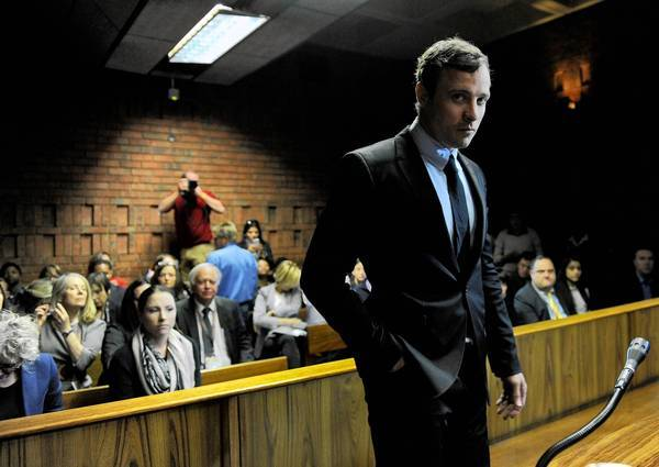Oscar Pistorius appears in Pretoria Magistrate's Court, where he was indicted on charges in the shooting death of model Reeva Steenkamp at his Pretoria home early Valentine's Day. A trial is expected to begin in early March.