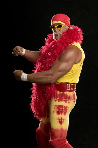Only one man should wear the Hulkamania shirts ...