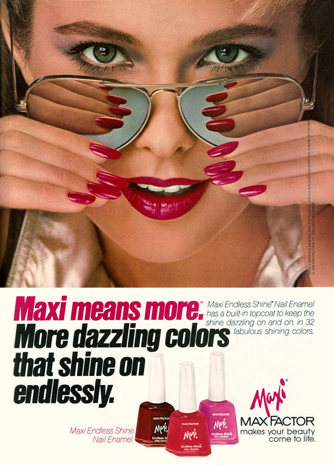 Ads from the 1980s geared toward women