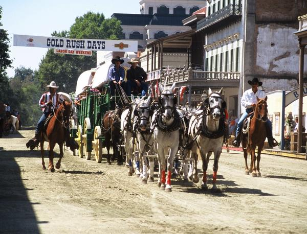 There's plenty of horseplay at Sacramento's annual Gold Rush Days, which celebrates the aftermath of John Sutter's find in 1848 that set off a stampede of fortune hunters.