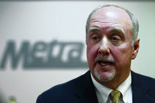 Why did then-board Chairman Brad O'Halloran say in a public meeting that Metra was self-insured and didn't have a policy?
