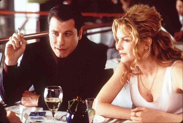 "John Travolta and Rene Russo in ""Get Shorty."""