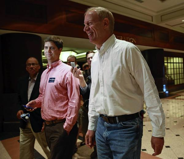 Republican candidate for governor Bruce Rauner in Springfield on Thursday.