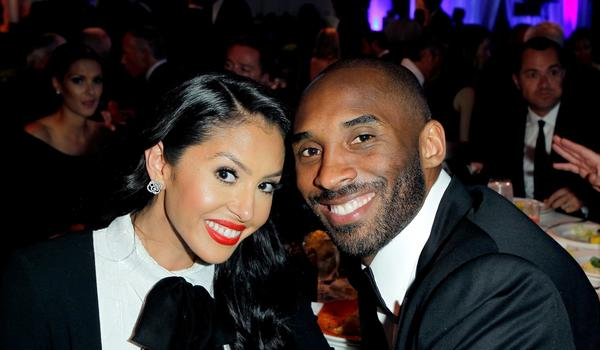 Vanessa and Kobe Bryant smile while attending a charity event in Beverly Hills in May.