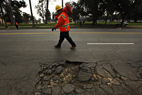 Los Angeles pothole