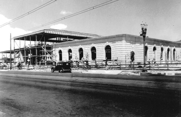 This historic photo of the U.S. Post Office on 313. E. Broadway was taken from the southeast corner during construction, which took place between 1933 and 1934 in Glendale.